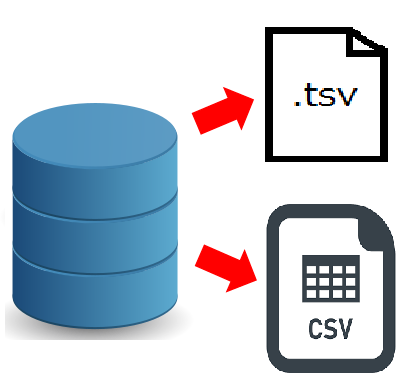 RecordSetからcsv、tsvファイルを出力する